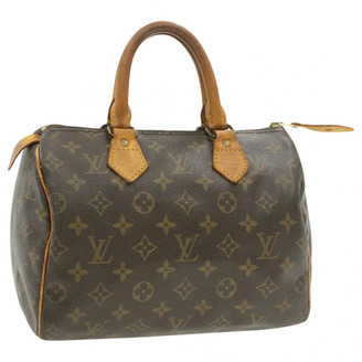 Louis Vuitton Speedy Doctor 25 Brown Cloth Handbags