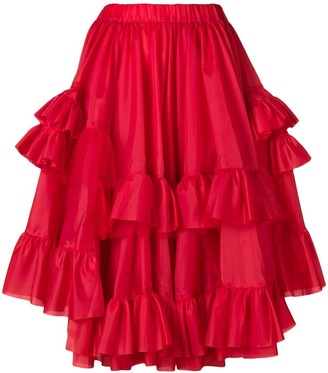 Comme des Garcons Ruffled Midi Skirt