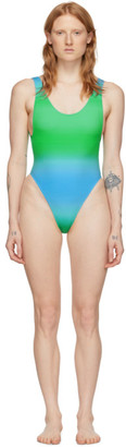 Jacquemus Blue and Green Le Maillot Camerio One-Piece Swimsuit