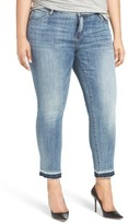 KUT from the Kloth Plus Size Women's Reese Release Hem Straight Leg Jeans