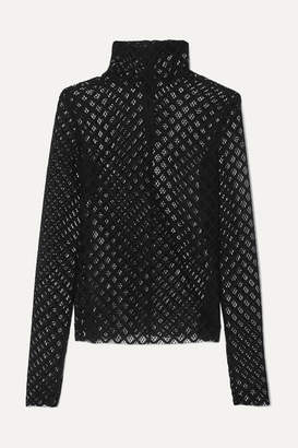 Philosophy di Lorenzo Serafini Lace Turtleneck Top - Black
