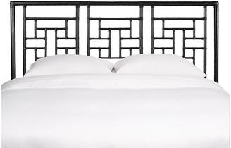 David Francis Furniture Ohana Headboard - Black Queen