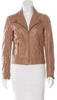 Sandro Leather Zip-Up Jacket