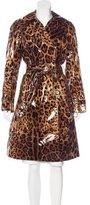 Dolce & Gabbana Leopard Print Rain Coat
