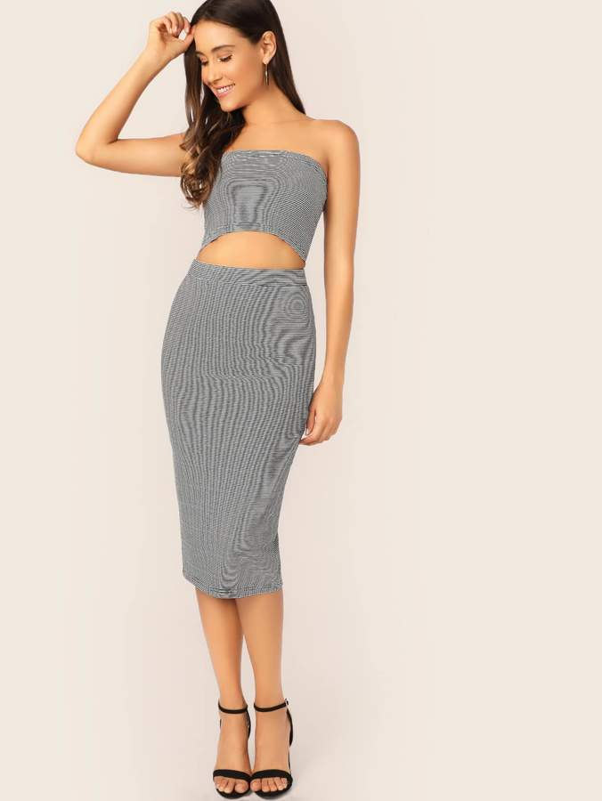 b131587655235f Black Slit Pencil Skirt - ShopStyle