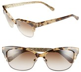 Kate Spade Women's 55Mm Retro Sunglasses - Camel Tortoise
