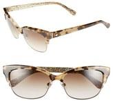 Kate Spade Women's Shira 55Mm Retro Sunglasses - Camel Tortoise