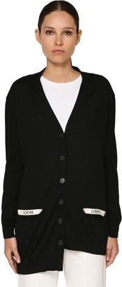 Loewe Asymmetric Knit Wool Cardigan