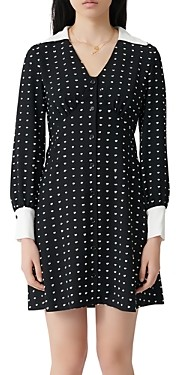 Maje Randi Dotted Shirt Dress
