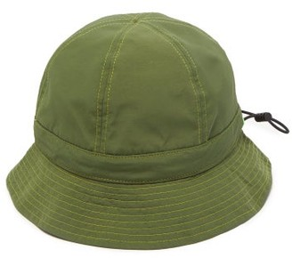 Paul Smith Topstitched Drawstring Bucket Hat - Green
