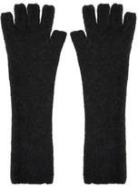 Isabel Benenato Grey Knit Gloves