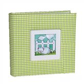 Michael Kors Green Gingham Baby 1 Up Green Photo Album - Holds 4 x 6 Pictures