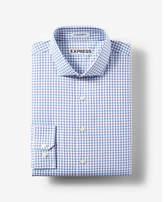 Express slim fit small check dress shirt