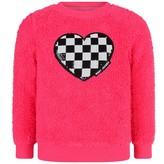 Little Marc Jacobs Little Marc JacobsFuchsia Sequin Heart Sweater