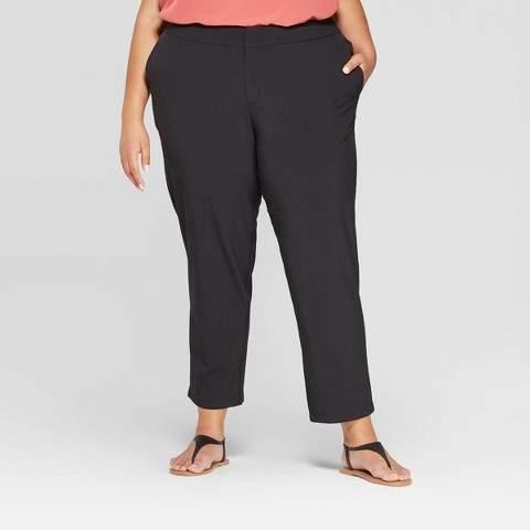 Ava & Viv Women's Plus Size Casual Stretch Pants - Ava & VivTM