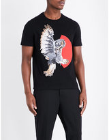 Neil Barrett Owl-print Cotton T-shirt