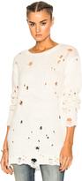 R 13 Shredded Crewneck Sweater