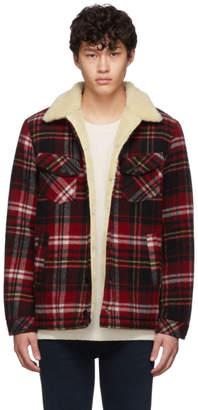 Nudie Jeans Red Plaid Wool Leeny Jacket
