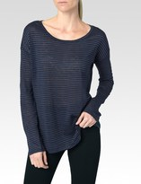 Paige Bess Tee - Midnight Navy with Black Stripe