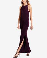 Lauren Ralph Lauren Mesh-Back Jersey Gown