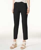 Eileen Fisher SYSTEM SYSTEM Washable Crepe Slim-Leg Ankle Pants, Regular & Petite