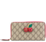 Gucci GG Supreme cherry wallet - women - Leather - One Size