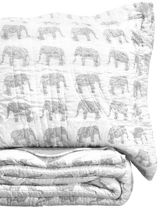 Melange Home Elephant Rev Quilt Set