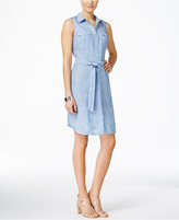 INC International Concepts Petite Linen Chambray Shirtdress, Only at Macy's