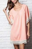 Umgee USA Lace-Trimmed Tunic Dress