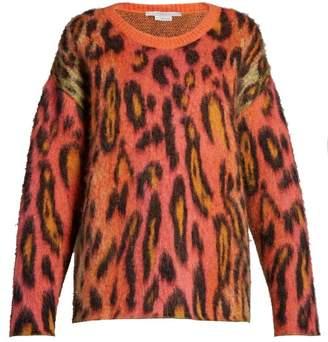 Stella McCartney Leopard-print Mohair Sweater - Womens - Multi