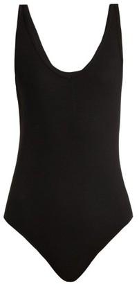 Atm - Ribbed V-neck Bodysuit - Womens - Black