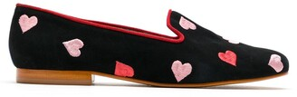 Blue Bird Shoes Hearts suede loafers