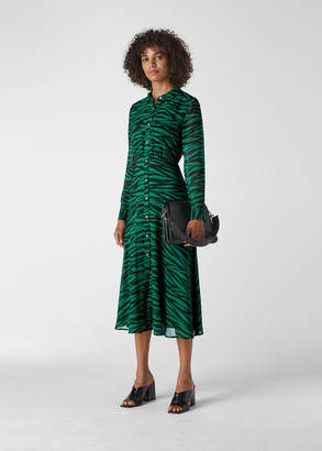 Carys Tiger Print Shirt Dress