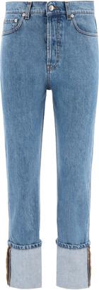 Nanushka CHO TURN-UP JEANS 25 Blue Cotton, Denim