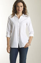J. Jill Cotton pintucked white shirt
