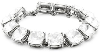 Kenneth Jay Lane Silvertone Crystal Stone Headlite Bracelet