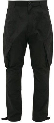 Givenchy Logo-patch Technical-blend Cargo Trousers - Black