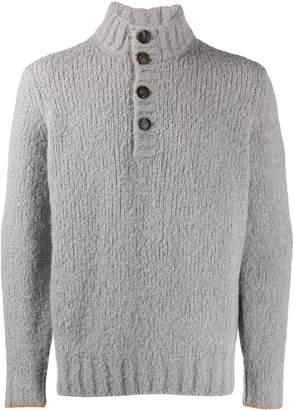 Brunello Cucinelli button high neck sweater