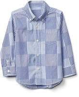 Gap Patchwork plaid button-down shirt