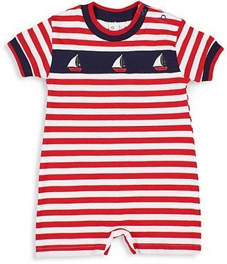 Florence Eiseman Baby Boy's Sailboat Striped Shortall