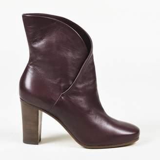 Celine Purple Leather Ankle boots