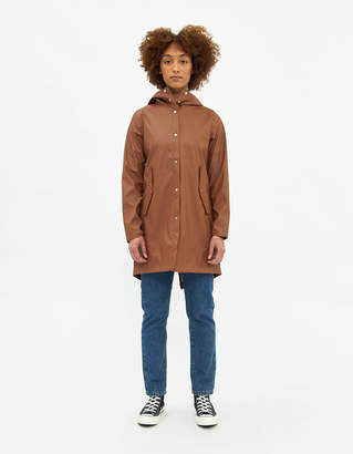 Herschel Women's Fishtail Parka Jacket In Brown, Size Extra Small