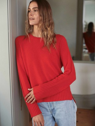 White + Warren Cashmere Pointelle Crewneck