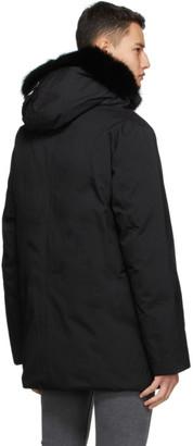 Mackage Black Down and Fur Edward Coat