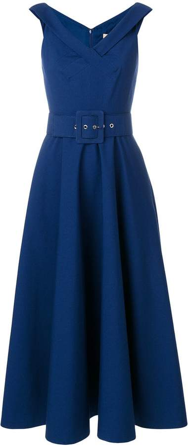 Michael Kors belted full skirt dress