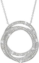 Crislu CZ Pave Intertwined Rings Pendant Necklace