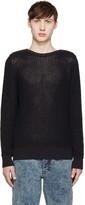 Maison Margiela Navy Zipped Collar Sweater