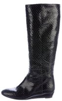 Loeffler Randall Embossed Wedge Knee-High Boots