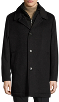 Hart Schaffner Marx Macbeth Wool Double-Collar Car Coat