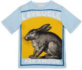 Gucci Children's rabbit print t-shirt